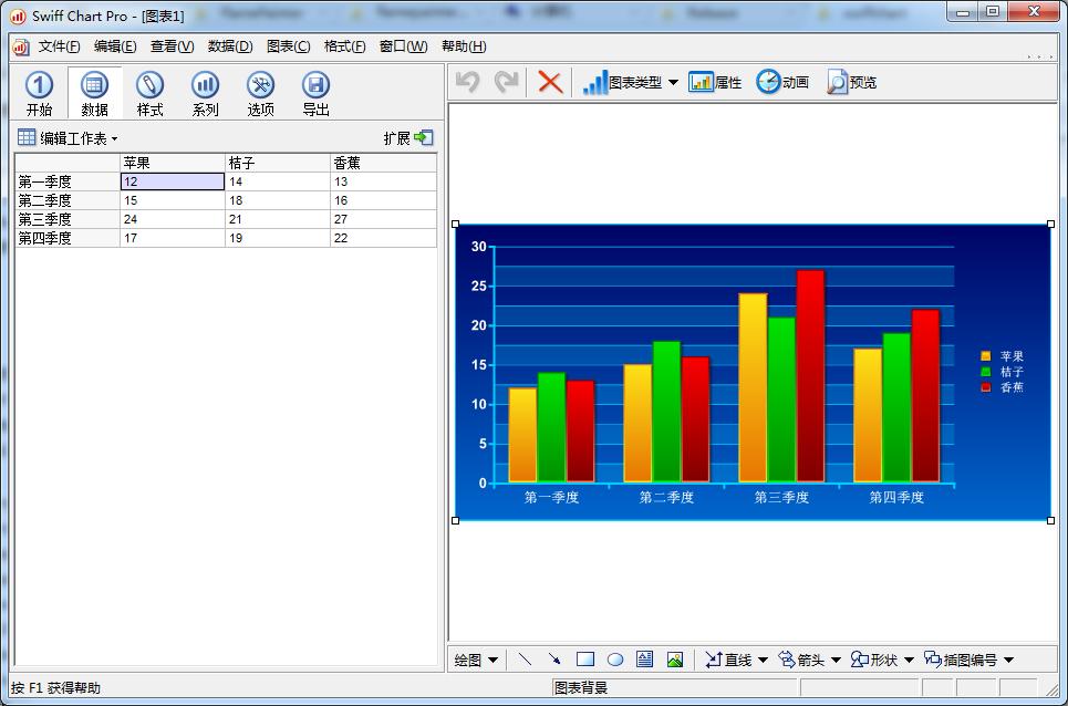 Swiff Chart(统计图图表制作软件)免费中文破解版下载