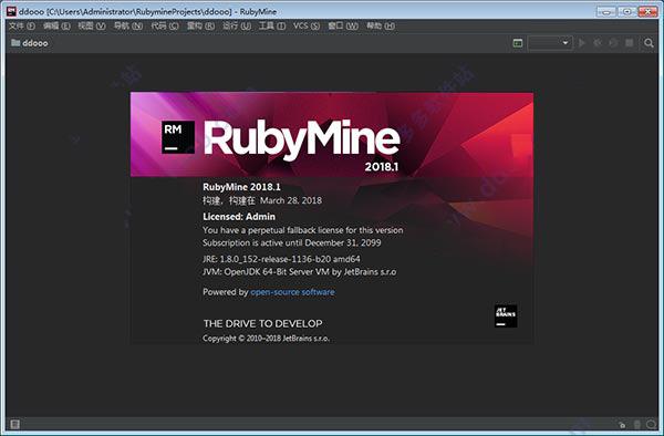 JetBrains RubyMine (Ruby开发工具)免费破解版下载