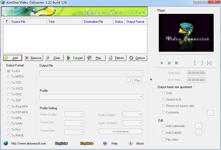 AimOne Video Converter(全能视频格式转换器)官方版下载