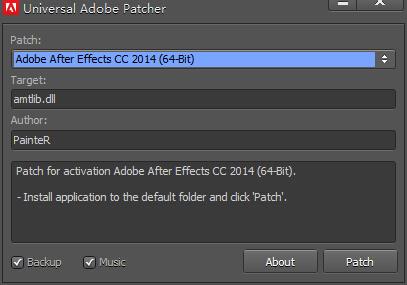 Adobe CC 2014注册机免费下载(通用破解激活补丁)