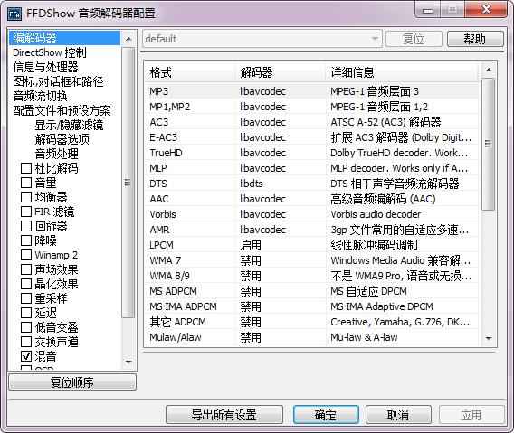 FFDShow视频解码器官方免费中文版下载